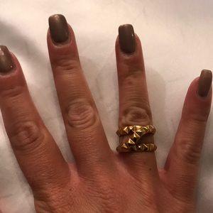 Henri Bendel gold spike ring